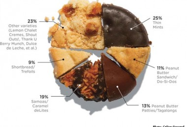 girl scout cookies infographic
