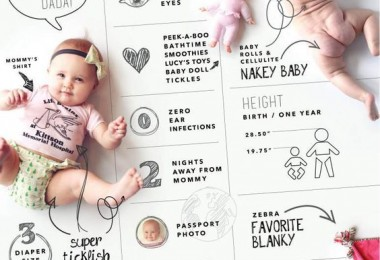 baby first year infographic
