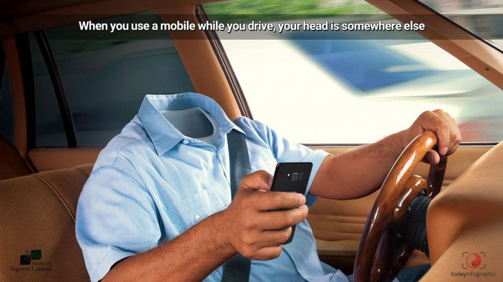 When-you-use-a-mobile-while-you-drive,-your-head-is-somewhere-else